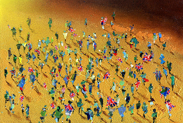 Paint Painting - Gold Rush by Neil McBride