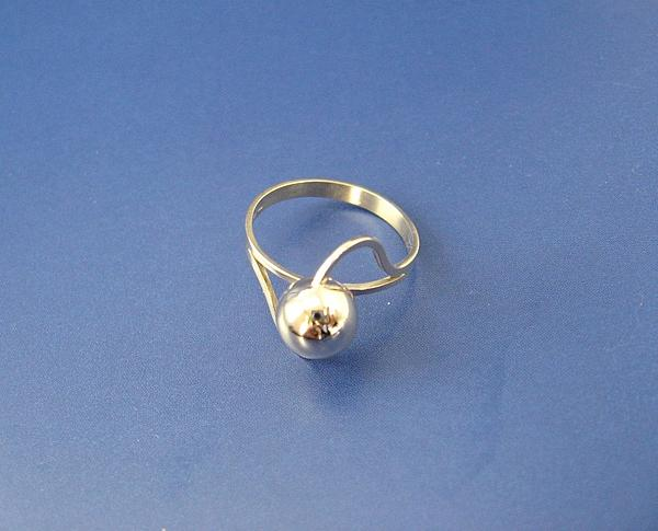 Gold Ball Ring Lady Elegant Modern Jewelry - Golden Ball - Ring by Leo Wildner