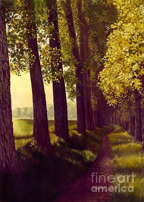 Alberta Painting - Golden Days by Michael Swanson