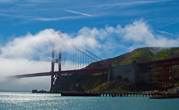 Golden Gate Bridge Photograph - Golden Gate And Fog by Rima Biswas