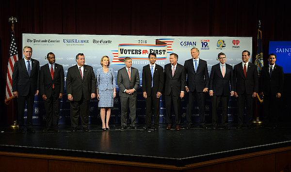 Gop Candidates Square Off At Voters First Forum In New Hampshire Photograph by Darren McCollester