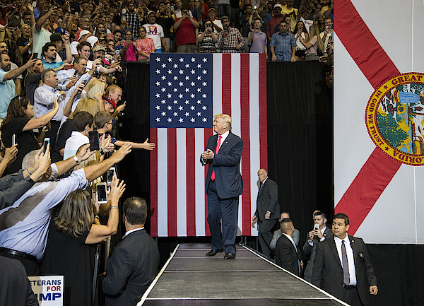 Gop Presidential Nominee Donald Trump Holds Rally In Jacksonville, Florida Photograph by Mark Wallheiser