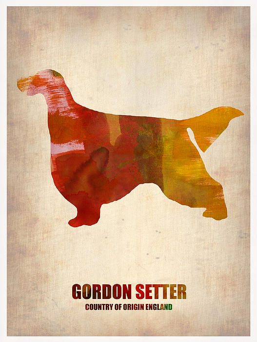 Gordon Setter Painting - Gordon Setter Poster 1 by Naxart Studio