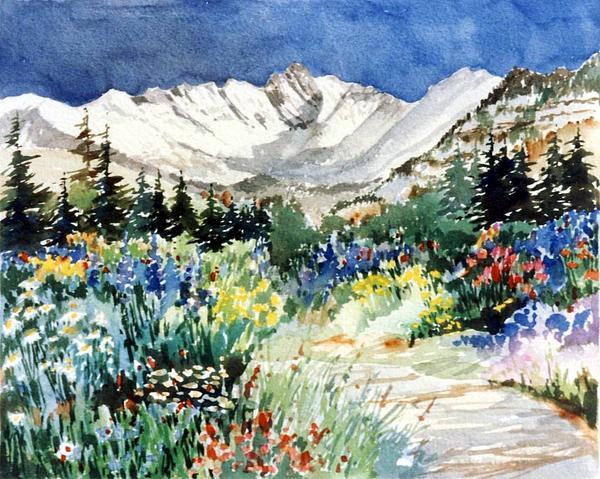 Gore Range Painting - Gore Range Trail by Patty  Frierson