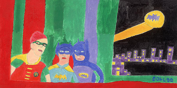 Painting - Gotham Heroes  by Don Larison