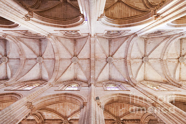 Gothic Photograph - Gothic Ceiling Of The Batalha Monastery Church by Jose Elias - Sofia Pereira