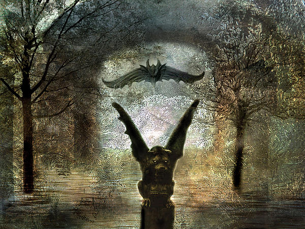Gothic Surreal Fantasy Spooky Gargoyles  Photograph by Kathy Fornal