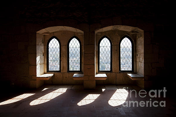 Gothic Windows Photograph - Gothic Windows Of The Royal Residence In The Leiria Castle by Jose Elias - Sofia Pereira