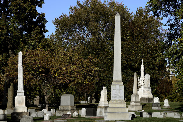Graveyard Photograph - Graceland Chicago - The Cemetery Of Architects by Christine Till