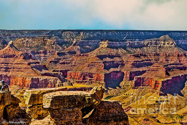 Grand Canyon National Park Photograph - Grand Canyon Mather Viewpoint by Bob and Nadine Johnston
