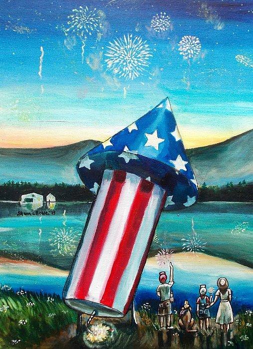 Firework Painting - Grand Finale by Shana Rowe Jackson