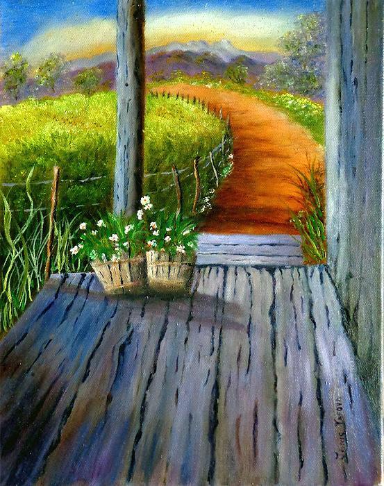 Google Painting - Grandmas Old Country Porch by Janis  Tafoya