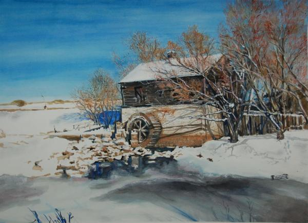 Mill Painting - Grants Old Mill by Susan Moore