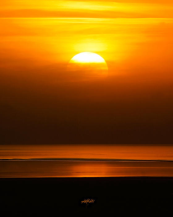 Sun Photograph - Great Salt Lake Sunset by Kirk Strickland