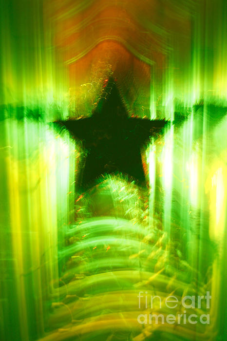 Christmas Photograph - Green Christmas Star by Gaspar Avila