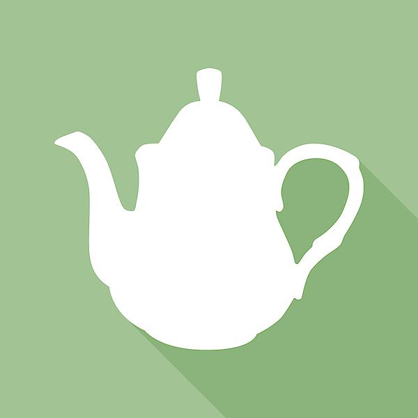 Green Tea Pot Icon Drawing by RobinOlimb