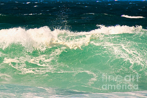 Pacific Grove Photograph - Green Wave Pacific Grove Ca  by Artist and Photographer Laura Wrede