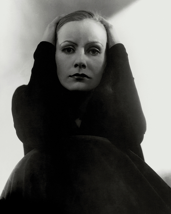 Greta Garbo Wearing A Black Dress Photograph by Edward Steichen