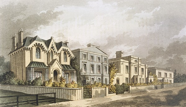 South London Drawing - Group Of Villas In Herne Hill by English School