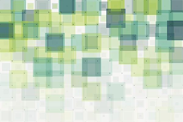 Growth Geometric Squares Pattern Drawing by FrankRamspott