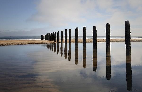 Groin Photograph - Groynes Blyth Northumberland by Christine Giles