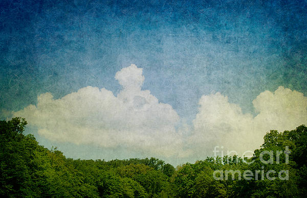 Abstract Digital Art - Grunge Background With Landscape by Mythja  Photography