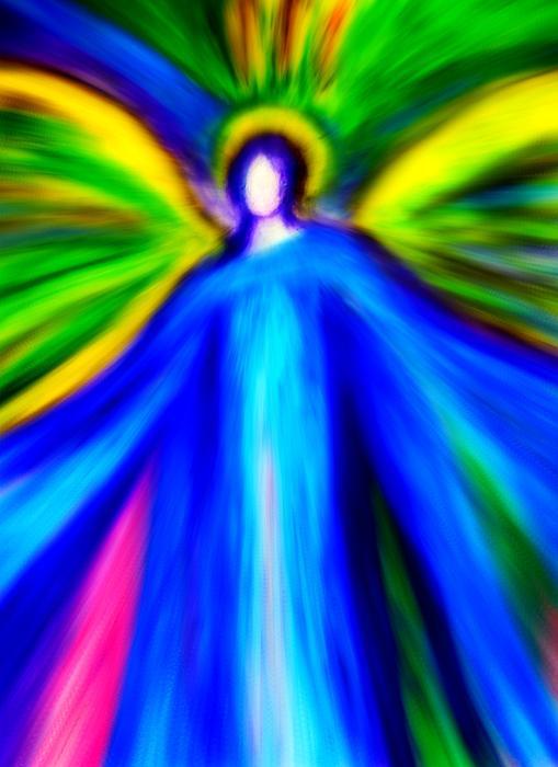 Angels Digital Art - Guardian Angels  by Alma Yamazaki