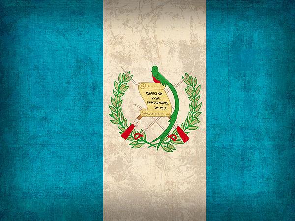 Guatemala Mixed Media - Guatemala Flag Vintage Distressed Finish by Design Turnpike