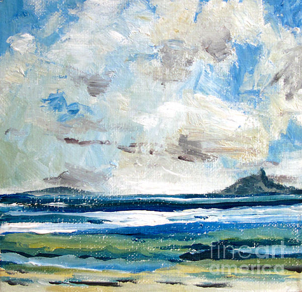 Guaymas Painting - Guaymas  Mexico S A  Goat  Tit Mtn. by Charlie Spear