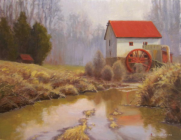 Landscape Painting - Guilford Mill En Plein Air by Jeremy Sams