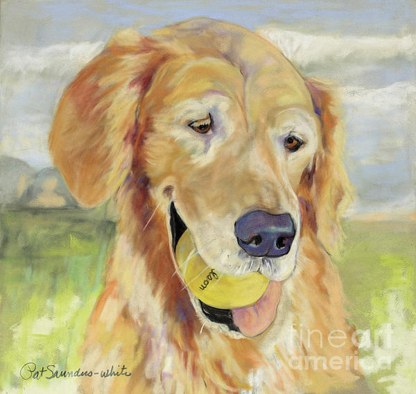 Pat Saunders-white Pastel Painting Painting - Gus by Pat Saunders-White