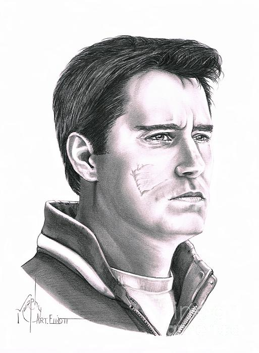 Pencil Drawing - Guy Boucher by Murphy Elliott