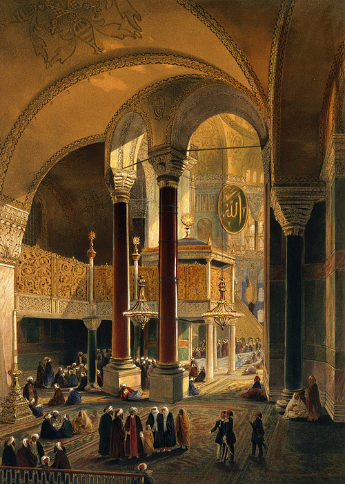 Interior Drawing - Haghia Sophia, Plate 8 The Imperial by Gaspard Fossati