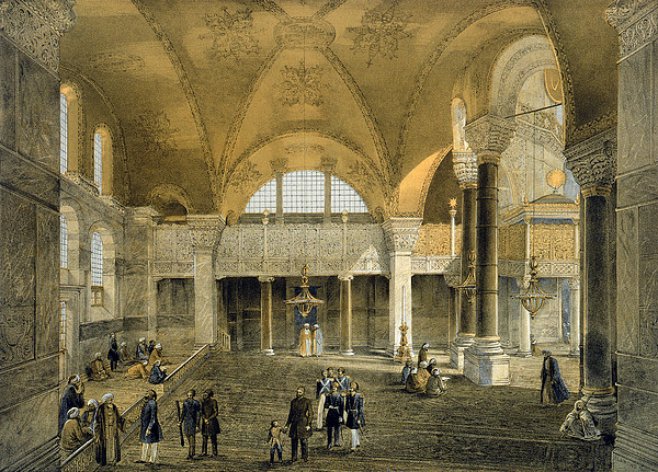 Architecture Drawing - Haghia Sophia, Plate 9 The New Imperial by Gaspard Fossati