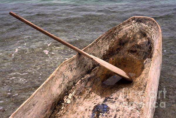 Haiti Photograph - Haitian Dugout Canoe by Anna Lisa Yoder