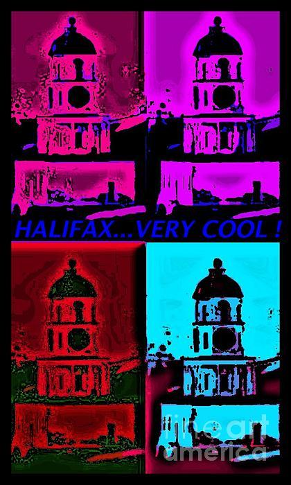 Landmarks Of Nova Scotia Digital Art - Halifax Very Cool Pop Art by John Malone