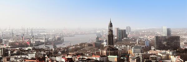 Hamburg Photograph - Hamburg Elbe Panorama by Marc Huebner