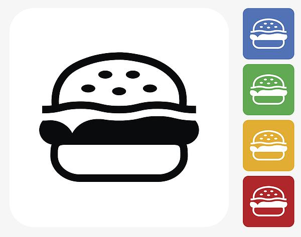 Hamburger Icon Flat Graphic Design Drawing by Bubaone