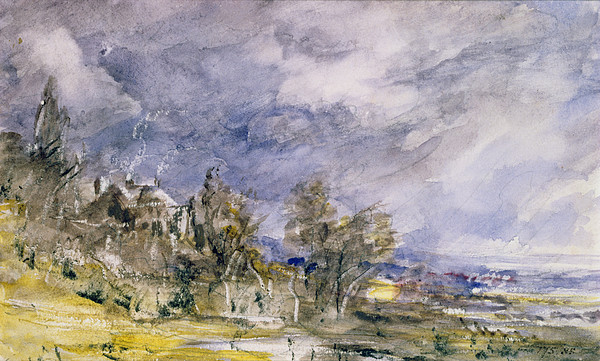 Storm Drawing - Hampstead Heath From Near Well Walk by John Constable