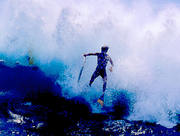 Body Surfing In Hawaii Photograph - Hang Time by Ron Regalado