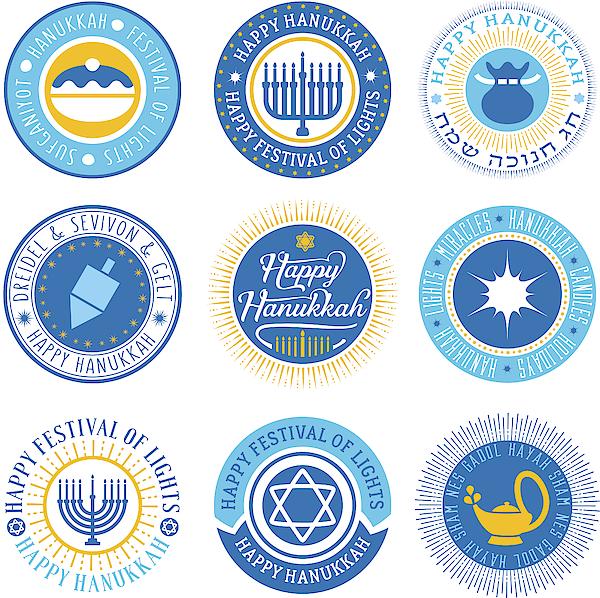 Hanukkah Vector Seals Drawing by Shanina