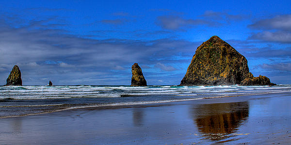 Cannon Beach Photograph - Haystack Rock And The Needles IIi by David Patterson