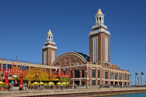 Navy Photograph - Headhouse Chicago Navy Pier by Christine Till