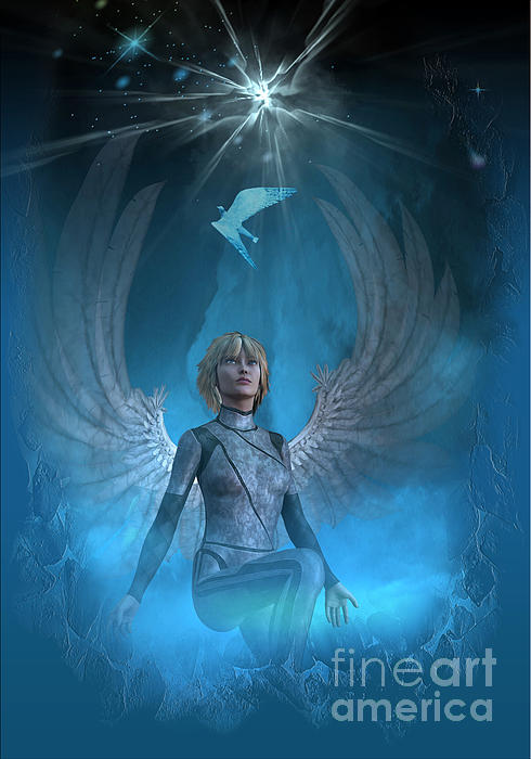 Heaven Digital Art - Heavenly Messenger by Shadowlea Is