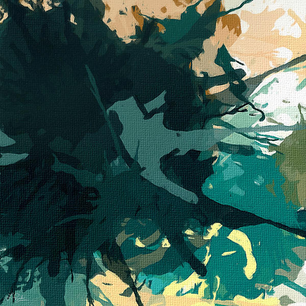 Turquoise Painting - Heightened Energy by Lourry Legarde