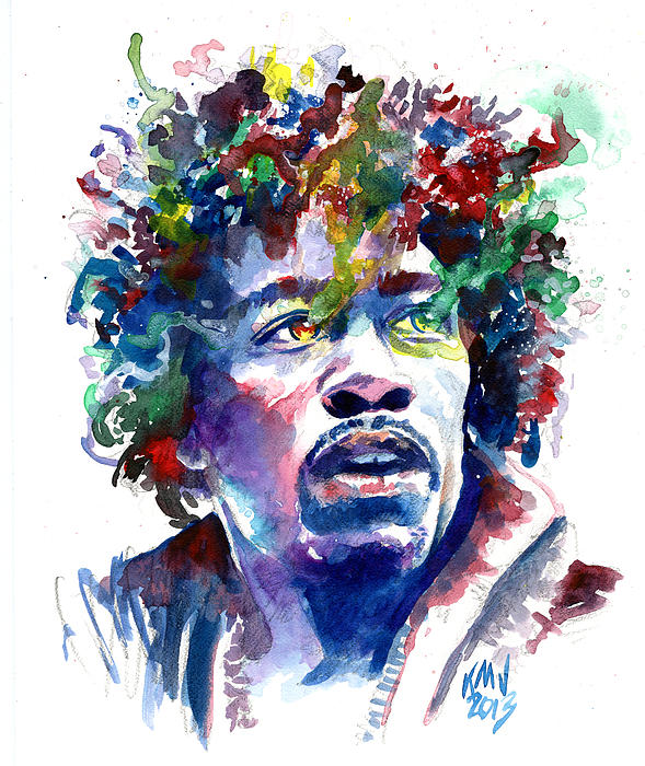 Jimi Hendrix Painting - Hendrixhead by Ken Meyer jr