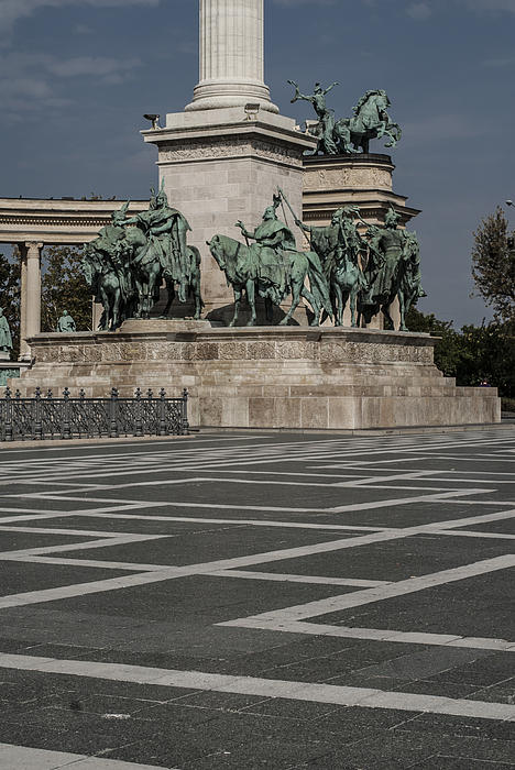 Budapest Hungary Photograph - Heroes Square by Sabina Cosic