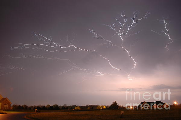 Weather Photograph - High Voltage by Steven Townsend
