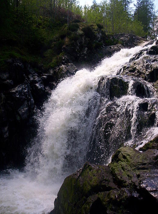 Scotland Photograph - Highland Waterfall by R McLellan
