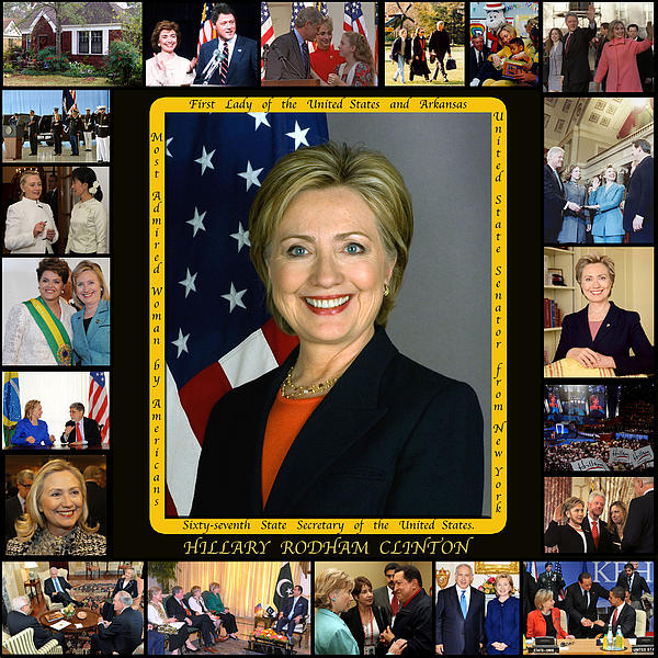 United States Secretary Of State Photograph - Hillary Rodham Clinton        by James William Allen
